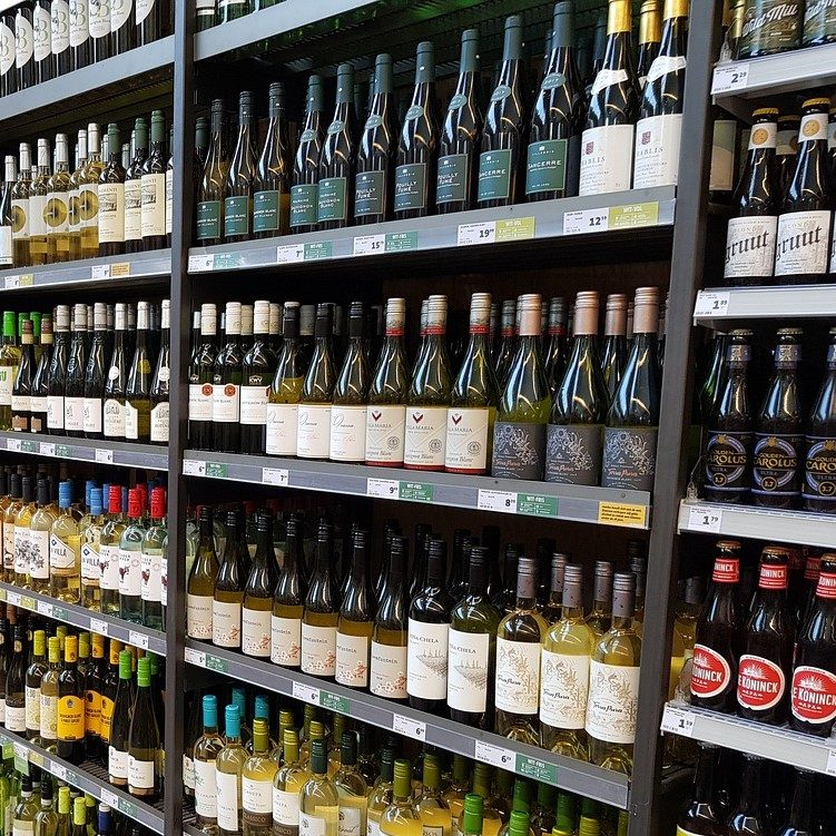 Point de vente alcool