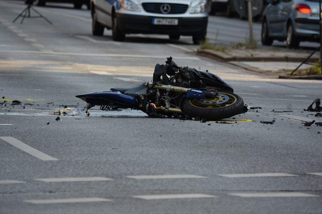 accident de la route moto